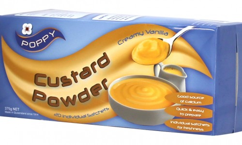 Poppy Custard Powder Package